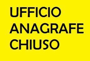 CHIUSURA SPORTELLO ANAGRAFE-21 SETTEMBRE 2020