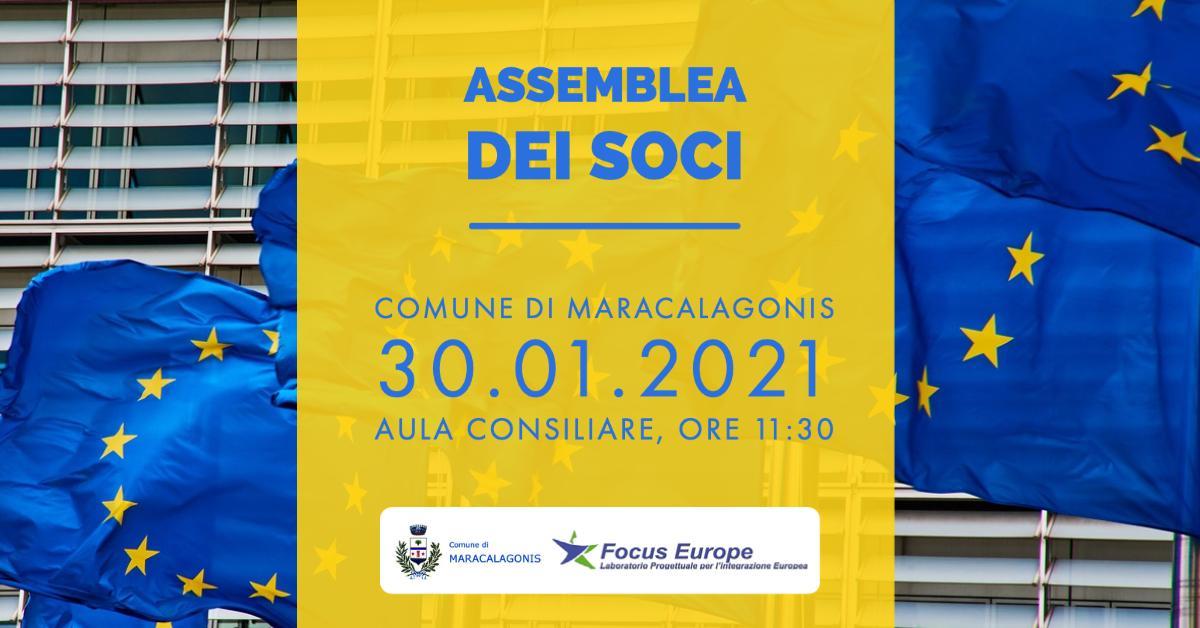 FOCUS EUROPE - ASSEMBLEA DEI SOCI - 30 GENNAIO 2021