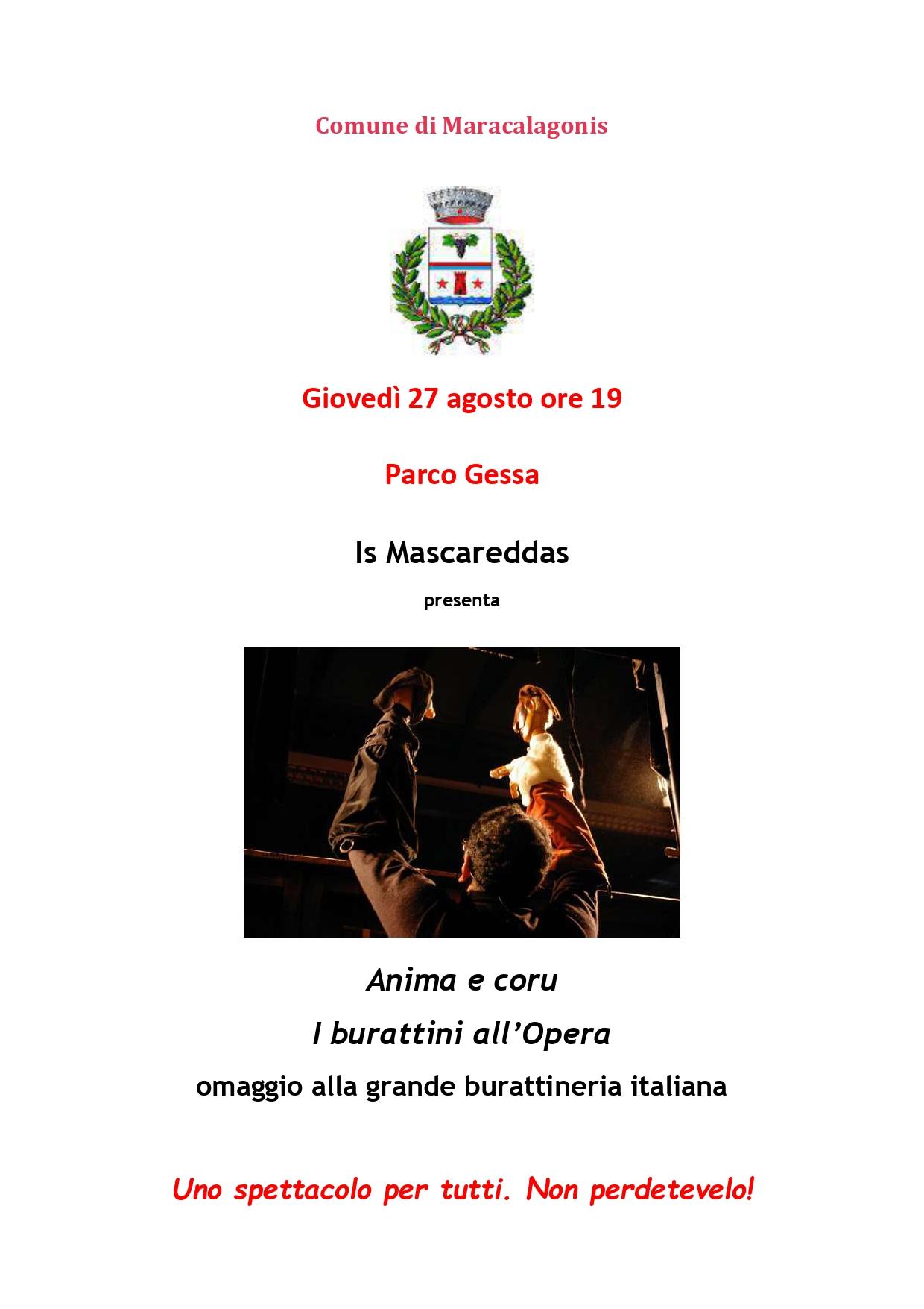 Rassegna Mara e Mare 2020 - Is Mascareddas in Anima e Coru, giovedì 27 agosto 2020