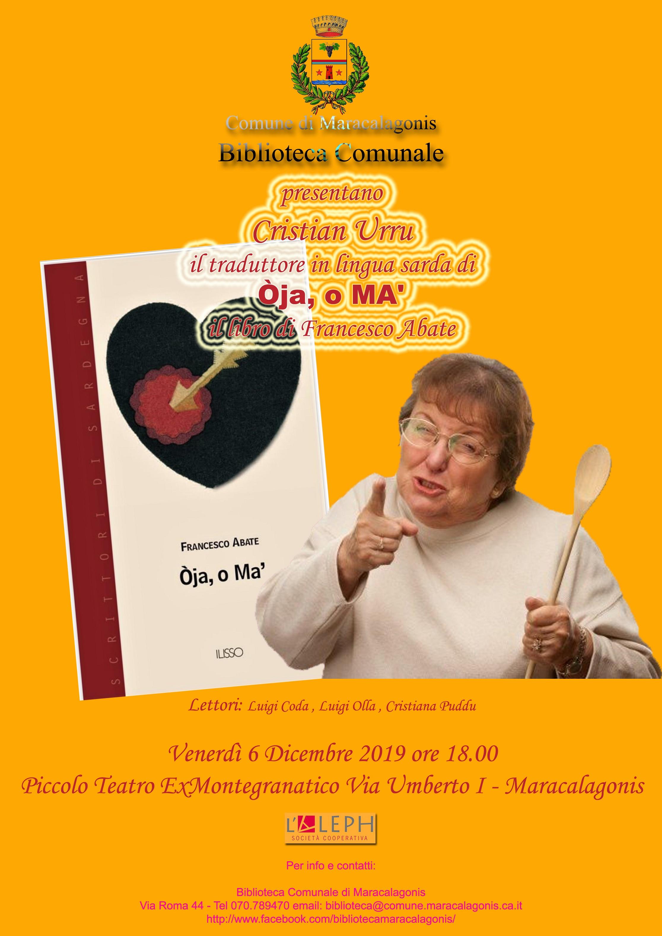BIBLIOTECA COMUNALE - PRESENTAZIONE DEL LIBRO