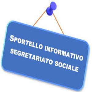 NUOVO SPORTELLO DI SEGRETARIATO SOCIALE