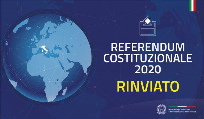 REVOCA REFERENDUM POPOLARE COSTITUZIONALE CONFERMATIVO DEL 29.03.2020